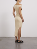 Zanita Beige Knit Twist Dress