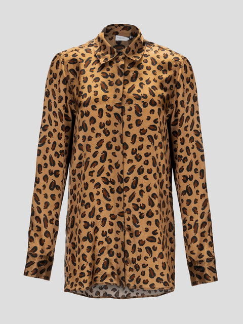 Relaxed Leopard Shirt