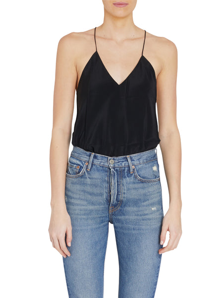 Lewis Black Silk Tank Bodysuit