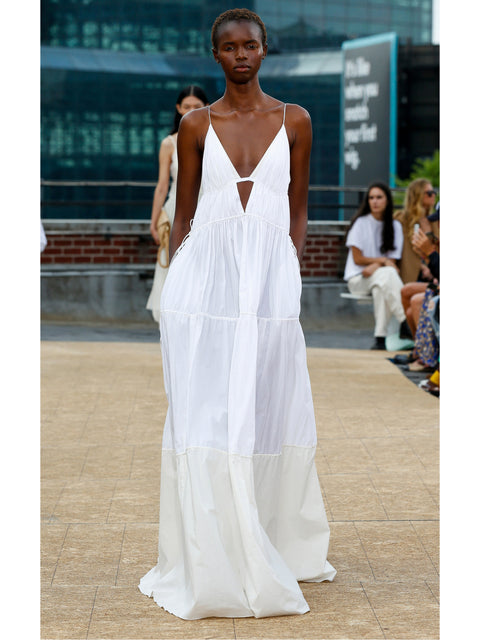 April Sleeveless Parachute Maxi Dress