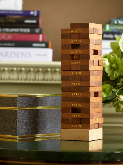 Chocolate Shagreen Jenga Set