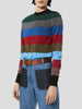 Lurex Striped Crewneck Jumper