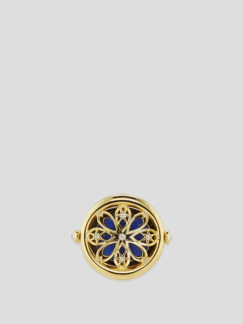 Air Element 18k Yellow Gold, Diamond and Lapis Ring,Ana Katarina,- Fivestory New York