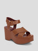Jane Cross-Strap Platform Sandals
