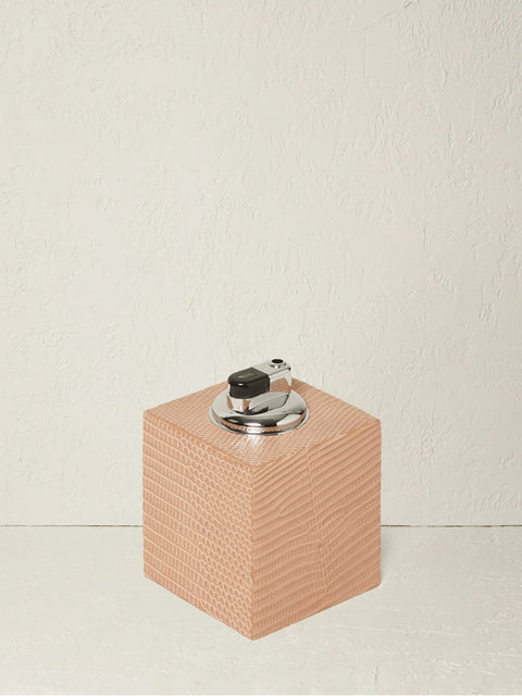 Square Pink Leather Lighter