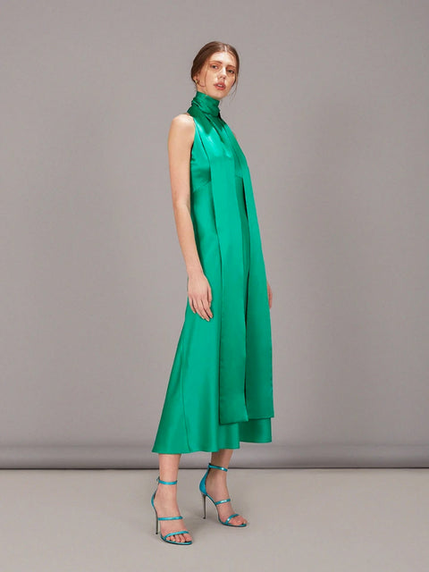 Michelle Midi Halter Dress,Saloni,- Fivestory New York