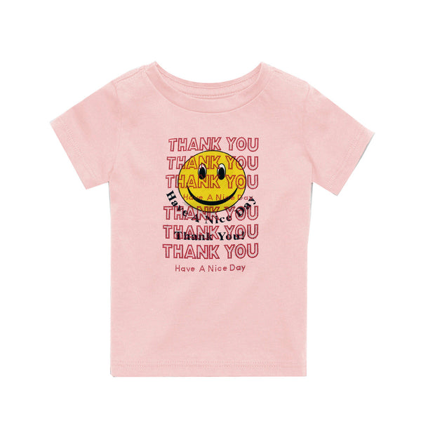 Children's Thank You T-Shirt Pink