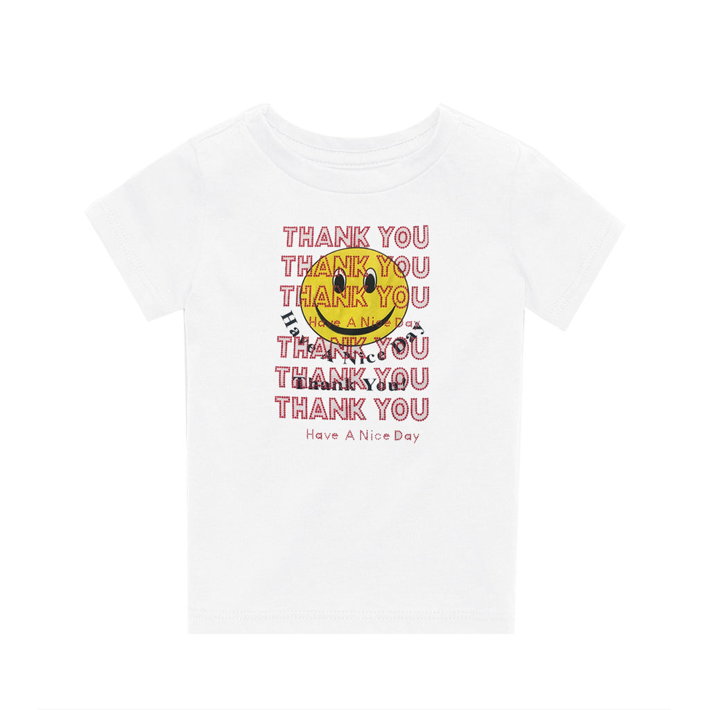 Childrens Thank You T-Shirt White