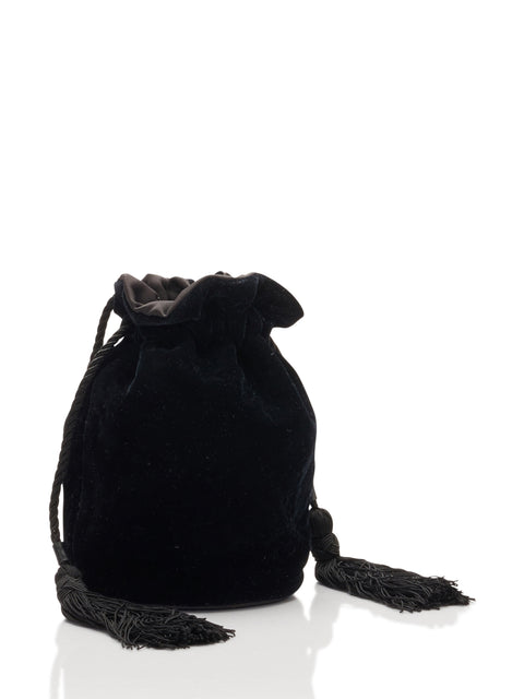 Tula Velvet Pouch in Black,Hunting Season,- Fivestory New York