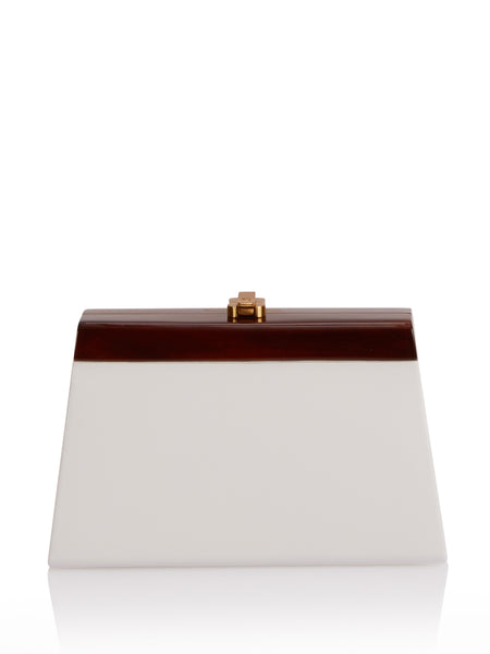Cindy Clutch in White,Rocio,- Fivestory New York