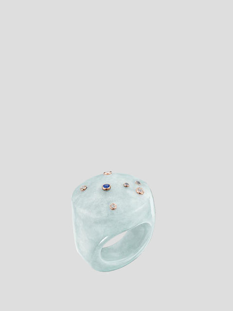 Jade Mini Sky Bubble Ring