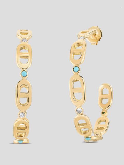 Diamond Chevalier Creole Hoops