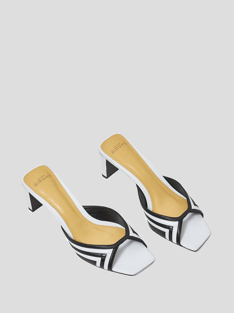 Benne Contrasting Mules
