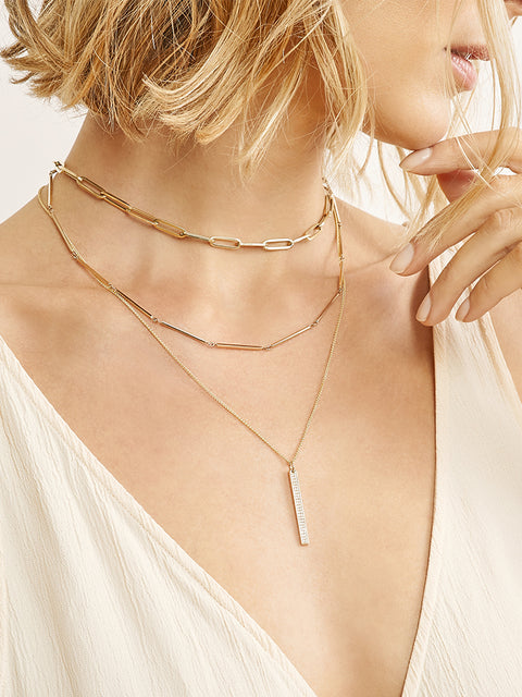 Aliye 14k Yellow Gold Chain Necklace