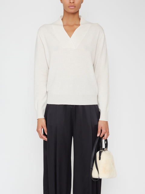 Beacon Cashmere Shawl-Collar Sweater