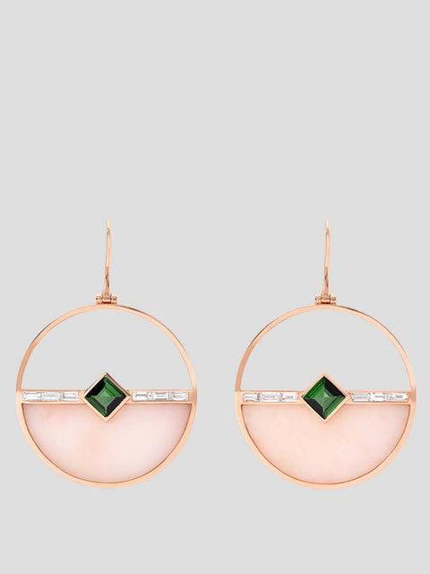 18k Yellow Gold Horizon Earrings