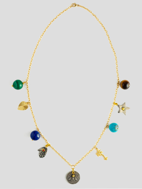 Les Charmantes 18k Yellow Gold Necklace,Haute Victoire,- Fivestory New York