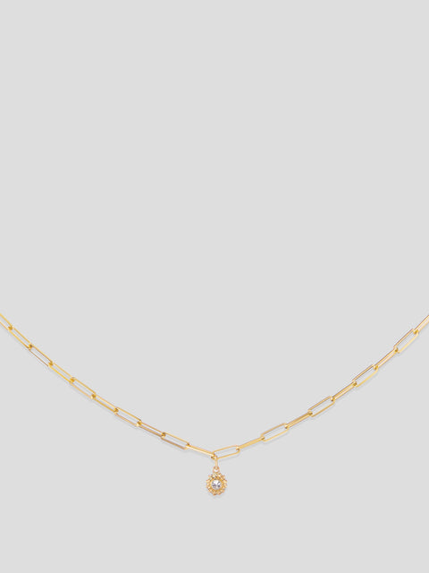 California Dreaming 18k Yellow Gold and Diamond Necklace,Ana Katarina,- Fivestory New York