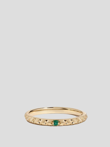 Clea 14k Yellow Gold and Emerald Ring