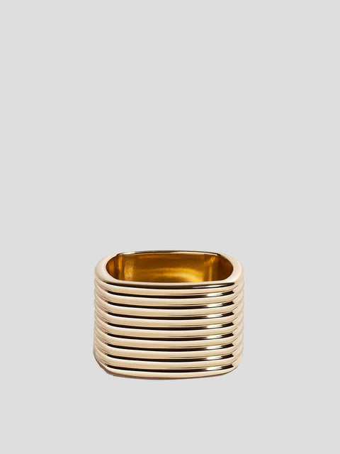 Coil 14k Yellow Gold Cigar Ring