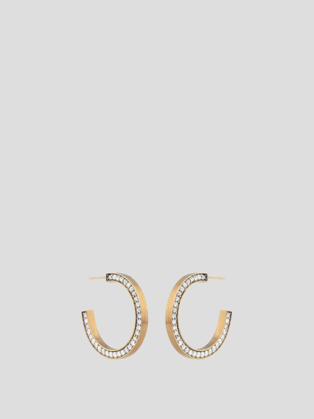 C12 Crystal Inset Hoop Earrings