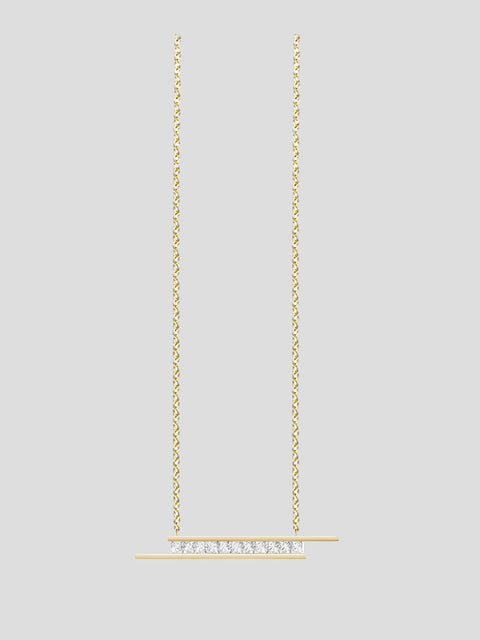 Elena 14k Yellow Gold and Diamond Necklace
