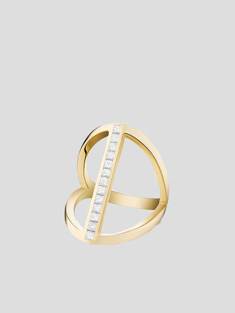 Elena 14k Yellow Gold and Diamond Ring