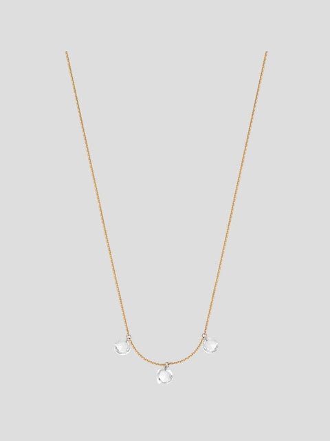 Artemis 14k Yellow Gold and Diamond Necklace