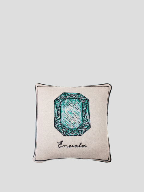 Emerald Jewel Beige Pillow