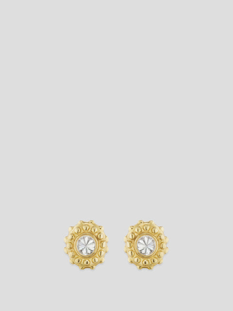 Intuition 18k Yellow Gold and Diamond Studs,Ana Katarina,- Fivestory New York