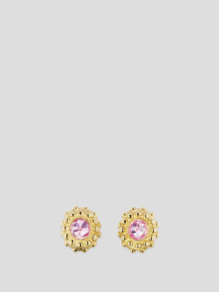 Intuition 18k Yellow Gold and Pink Sapphire Studs,Ana Katarina,- Fivestory New York