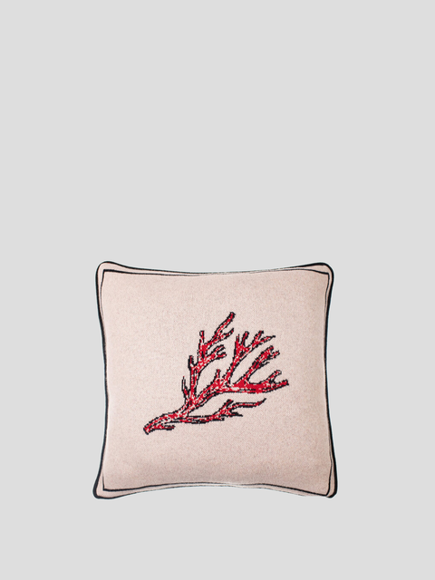 Fire Coral Beige Pillow