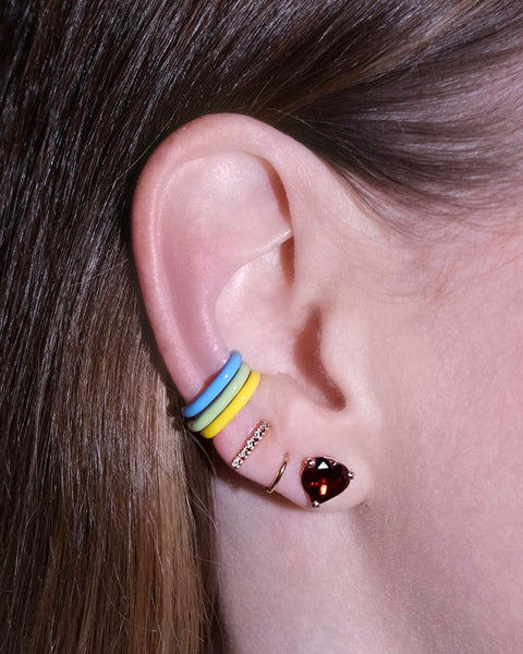 Blue Unicorn Rainbow Enamel Ear Cuff