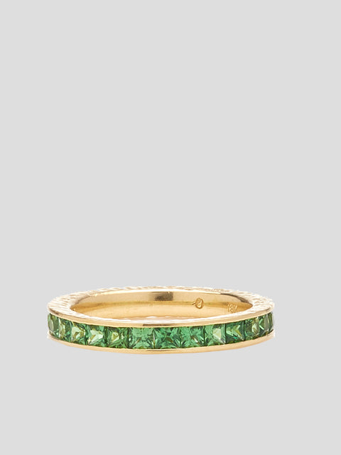 Green Ivy Anniversary Ring