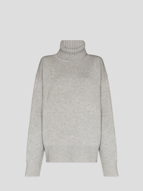 No.20 Oversized Xtra Grey Cashmere Turtleneck Sweater