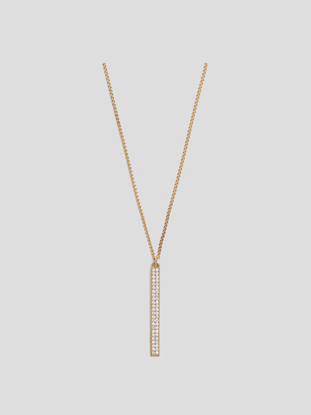 Gaia 14k Yellow Gold Pave Diamond Necklace