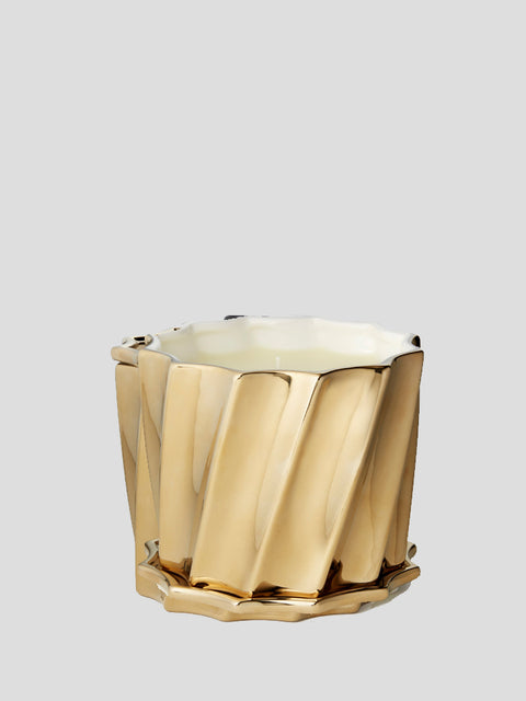 Gold Fluted Candle