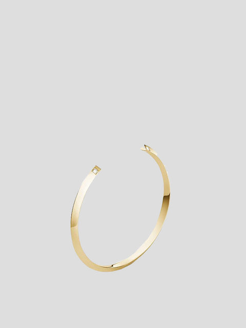 Greta 14k Yellow Gold and Diamond Cuff