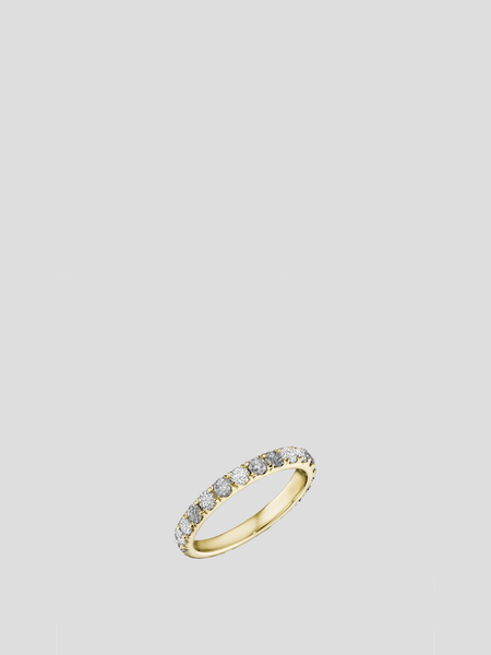 14k Gold Grey and White Diamond Eternity Band