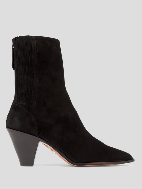 Saint Honore Black Suede Bootie
