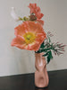 Peach Seam Distorted Vase