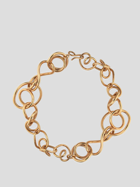 Gold Interlock Chain Necklace