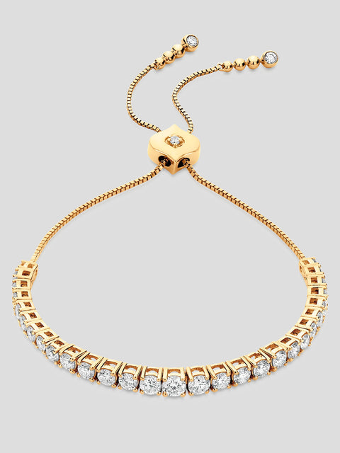 18k Yellow Gold Isadora Eternity Diamond Bracelet