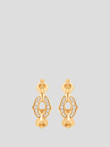 18k Yellow Gold Lucia Diamond Earrings