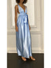 Ilea Sleeveless Silk Maxi Dress