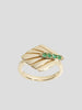 Josephine 14k Yellow Gold and Emerald Ring