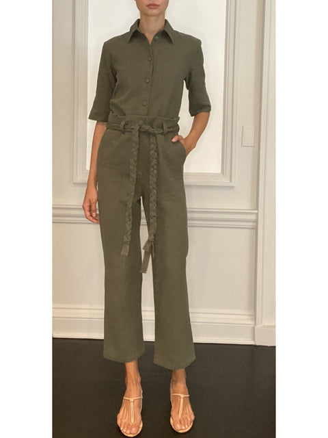 Karina Wide-Leg Linen Trousers