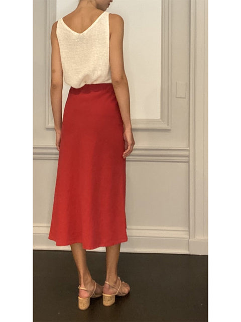 Kelly Linen Midi Skirt
