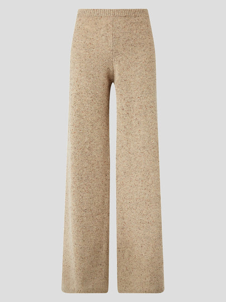 Tweed Knit Wideleg Pants