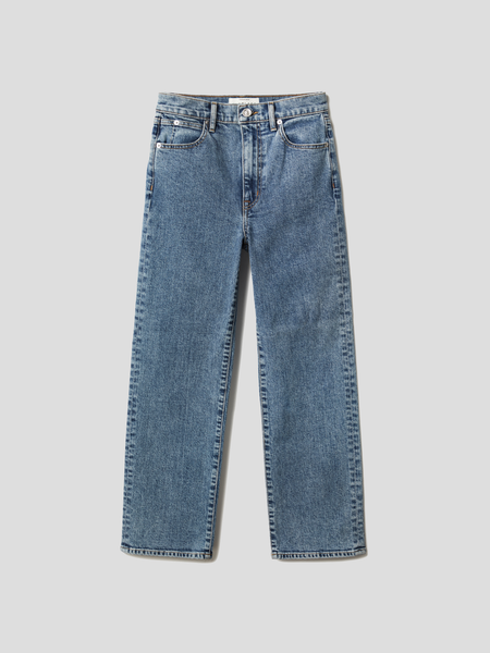 London Crop Kings Canyon High Rise Straight Leg Jean
